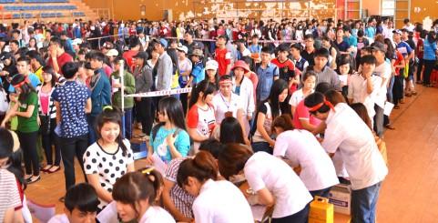 Hiến máu đã trở thành phong trào rộng khắp trên cả tỉnh Đắk Lắk