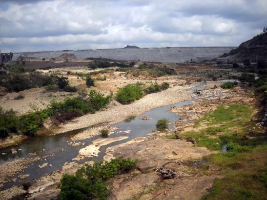 Ảnh dòng sông Ba đoạn qua huyện Kbang thị xã An Khê