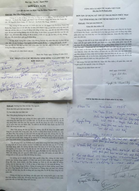Một số đơn thư bức xúc về Y tế người dân gửi đến báo Tiền Phong
