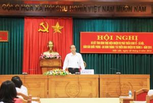 Chủ tịch UBND tỉnh Phạm Ngọc Nghị khẳng định khó khăn do sở Y tế yếu kém