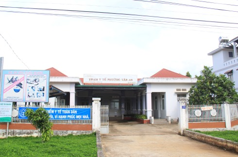 Trạm y tế phường Tân An lúc 14h ngày 10-8