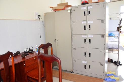 Căn phòng tạm trú của 5 thầy trò BS Điền trong bệnh viện