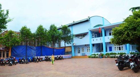 Trường tiểu học Quốc tế đang xây thêm nhiều khối lớp