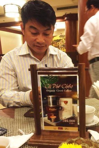 Bảng giá cà phê chồn Kiên Cường ở Ks REX
