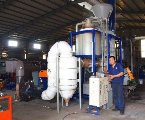 Chạy thử nghiệm dàn máy sấy nhiệt phân công nghệ Thụy Sĩ tại xưởng cơ khí Viết Hiền