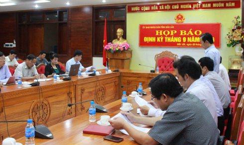 Họp báo ngày 3 tháng 10 tại UBND tỉnh Đắk Lắk