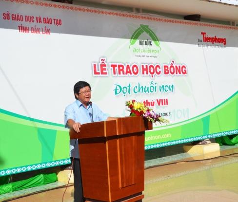 Ông Trịnh Dũng Vụ trưởng Vụ Văn hóa xã hội Ban Chỉ đạo Tây Nguyên dánh giá cao ý nghĩa của chương trình học bổng ĐCN