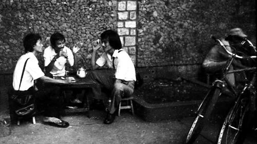 Cà phê vỉa hè Sài Gòn  thập niên 1970