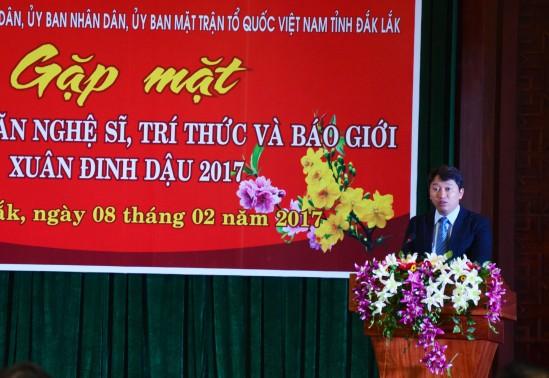 Ông Nguyễn Hải Ninh Phó Chủ tịch UBND tỉnh phát biểu khai mạc cuộc gặp mặt