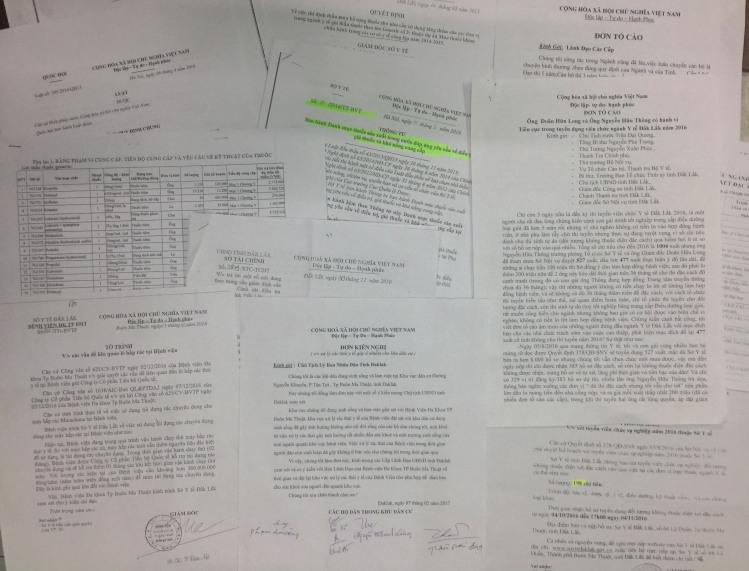 Đơn thư phản ánh tố cáo các dấu hiệu tiêu cực tham nhũng của ngành Y tế Đắk Lắk vẫn liên tục gửi về báo Tiền Phong