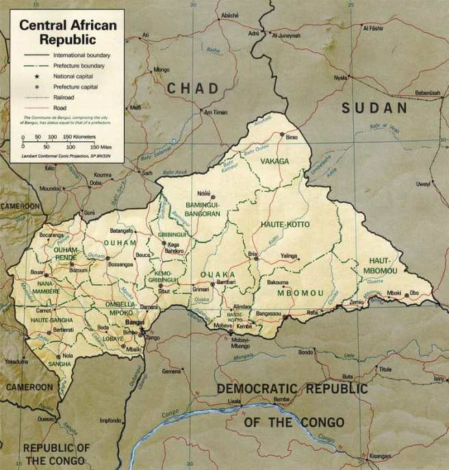 central-african-republic-map